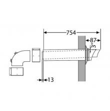 Saunier Duval wyprowadzenie poziome przez ścianę do kotłów KONDEN.60/100 0020219606