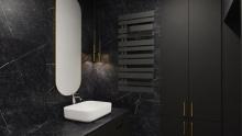 Instal Projekt Pop Star Plus grzejnik łazienkowy 50/140 Black Mat C31