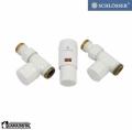 Schloser zestaw termostatyczny Elegant Mini 1/2 x M22x1,5 prosty biały 603400008