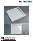 Sanswiss ILA brodzik konglomeratowy kwadratowy WIA 900x900 biały WIQ0900404