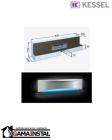 Kessel Scada LED Moduł do zabudowy 900x100 z odpływem ściennym RGB i pokrywą Wave 48004.43