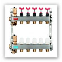 Ferro Rozdzielacz 10-drogowy z zaworami termostatycznymi i przepływomierzami RZP10