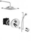 Kludi O-cean/Zenta zestaw termostatyczny podtynkowy deszczownica + zestaw natryskowy  66531 66514 88011 6306 60730 38830