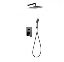Valvex Carre Black podtynkowy zestaw prysznicowy 2448850