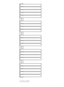 Terma Warp S 1695x500 grzejnik łazienkowy biały