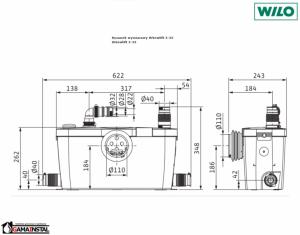 Rysunek techniczny pompy 4191677