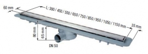 Kessel Linearis Compact odwodnienie liniowe L = 1050 mm 45600.66