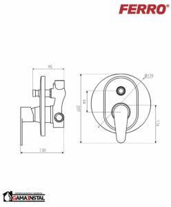 Rysunek techniczny baterii BAG7P