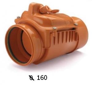 Zasuwa burzowa jednoklapowa DN 160  (klapa zwrotna stalowa) (L310mm) CAPRICORN 9-5000-160-00-03-11