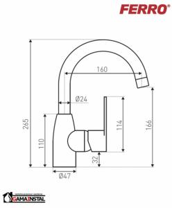 Rysunek techniczny baterii BAG2A