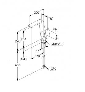 KLUDI AMEO Jednouchwytowa bateria umywalkowa 410240575