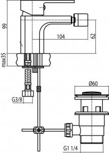 Rysunek techniczny baterii 2455940