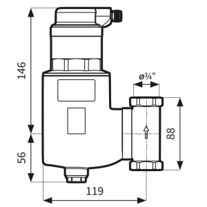 Rysunek techniczny separatora FAR