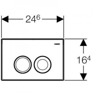 Rysunek techniczny przycisku Delta 21 115.125.46.1