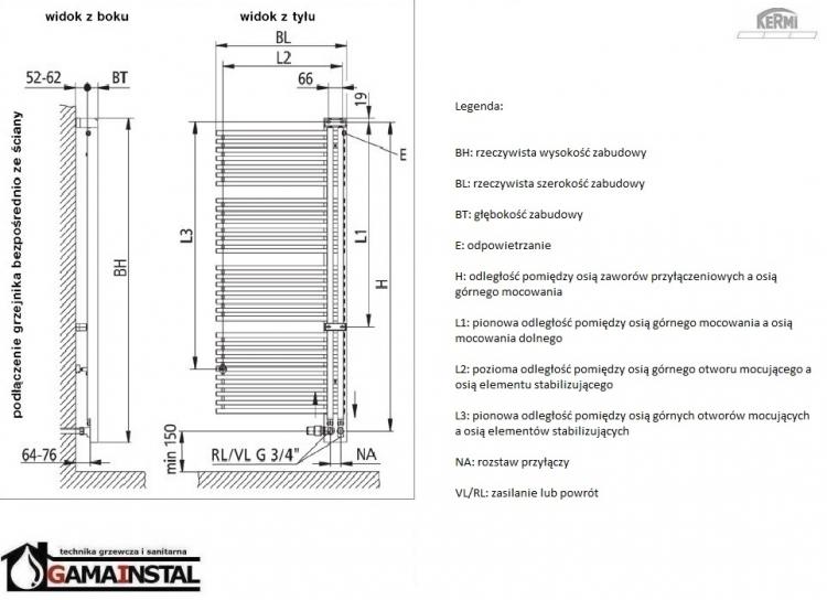 kermi credo half 1466x610 grzejnik azienkowy chv1a140060. Black Bedroom Furniture Sets. Home Design Ideas