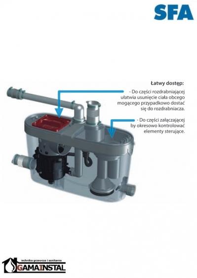 Sfa Saniaccess 4 Pompa Do Brudnej Wody Phu Gama Instal