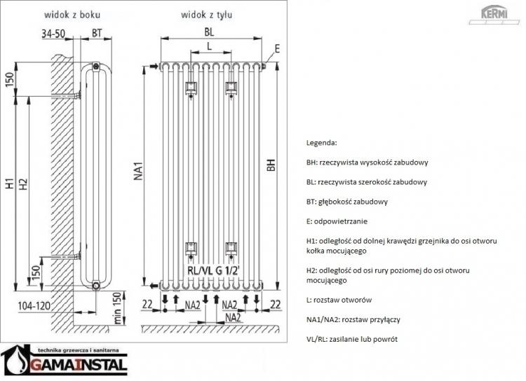 kermi decor s 1800x552 grzejnik dekoracyjny typ32. Black Bedroom Furniture Sets. Home Design Ideas