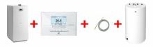 Saunier Duval Niedźwiedź Condens 18 + adapter kks 80/125 + sensor automatyki pogodowej + regulator EXACONTROL E7C+ czujnik NTC temp.zas.+ zasobnik FE 120/6 BM 0010020535