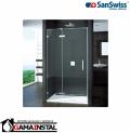 Sanswiss PU13 drzwi jednoczęściowe prawe z ścianką stałą montaż bezprofilowy WYMIAR SPECJALNY PU13DSM11007