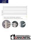 Instal Projekt grzejnik łazienkowy STICK LEVEL 1000X555 biały POZIOMY STIL-100/60ZN