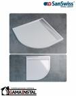 Sanswiss ILA brodzik konglomeratowy półokrągły WIR 800x800 R55 biały WIR550800404