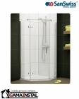 Sanswiss PUR LIGHT PL51 pięciokątna z drzwiami jednoczęściowymi prawe 90cm PL51D60905007