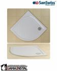 Sanswiss MARBLEMATE brodzik konglomeratowy półokrągły WMR 1000x1000 R55 biały WMR55100004