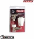 """Ferro zawór termostatyczny komplet kątowy 1/2"""" ztm02"""