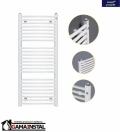 Instal Projekt grzejnik łazienkowy OMEGA R 400X686 biały OMER-40/70D50 PODŁĄCZENIE ŚRODKOWE