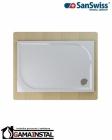 Sanswiss MARBLEMATE brodzik konglomeratowy prostokątny WMA 800x1400 biały WMA8014004
