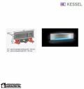 Kessel Scada LED Odpływ ścienny RGB, z pokrywą Wave 48003.43