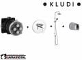Kludi Zenta zestaw podtynkowy podtynkowa bateria natryskowa z KLUDI DUAL SHOWER SYSTEM