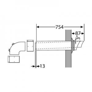 Saunier Duval wyprowadzenie poziome przez ścianę do kotłów
