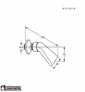 KLUDI A-QA NATRYSK SPIĘTRZONY DN 15 6051005-00