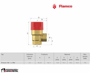 FLAMCO ZAWÓR BEZPIECZEŃSTWA PRESCOR 3/4 3.0 Bar 27024
