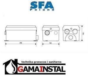 Rysunek techniczny pompy Sanidouche