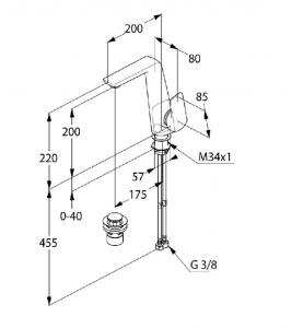 Kludi Ameo Jednouchwytowa bateria umywalkowa 410250575