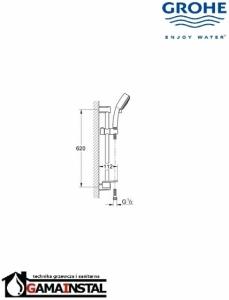 Grohe Cosmopolitan zestaw prysznicowy Trio 27576