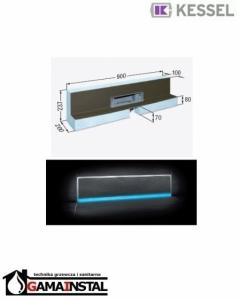Kessel Scada LED Moduł do zabudowy 900x100 z odpływem ściennym RGB i pokrywą do wklejenia płytek 48004.41