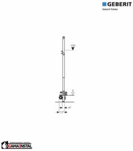 GEBERIT Duofix do natrysków z odpływem ściennym, h90, H130 AP, 111.587.00.1