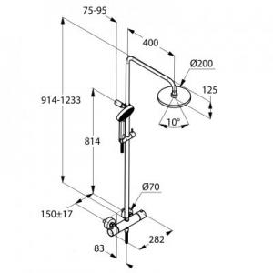 Rysunek techniczny zestawu 660950500