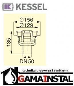 Kessel Korpus, Syfon Classic z ABS z wyjmowanym syfonem 50 mm 40250