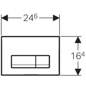 Rysunek techniczny przycisku Delta 51 115.105.46.1