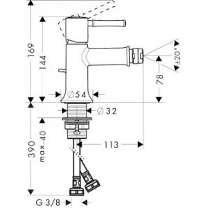 Rysunek techniczny baterii Talis Classic 14120000