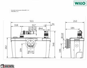 Rysunek techniczny pompy HiSewlift 4191675