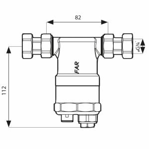 Rysunek techniczny separatora FAR 402