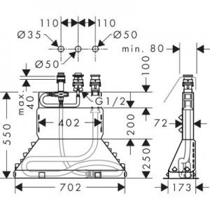 Rysunek techniczny elementu podstawowego 13437180