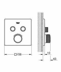 Wymiary techniczne baterii 29124000