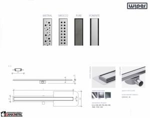 WIPER Premium Slim Odpływ Liniowy 600 Mistral, Sirocco, Pure, Ponente WPS600