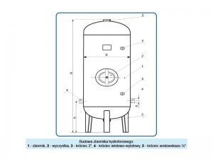 Opis zbiornika hydroforowego
